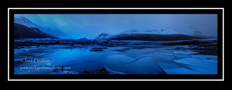 black and blue - ice in lagoon