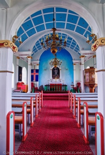Inside an Icelandic church by jack graham
