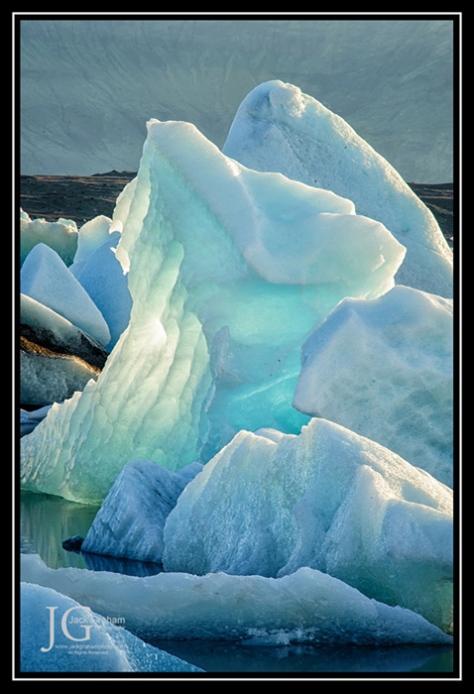Icebergs in lagoon