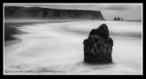 Sea stack on Iceland beach
