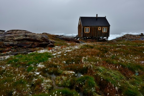 greenland fishing hut