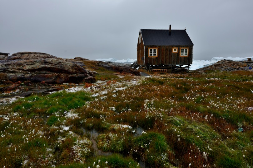 greenland fishing hut