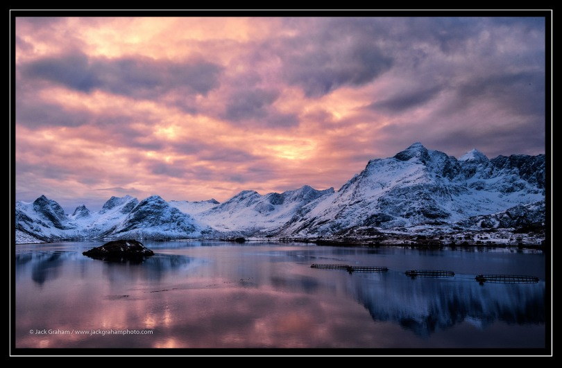 winter norway sunset