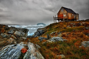 greenland fishing shack